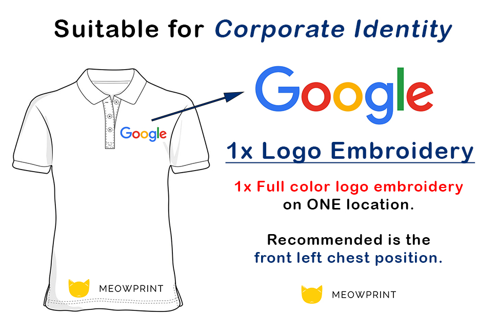 Explanation of 1x logo embroidery