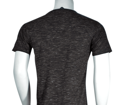 Lycra Vneck Black back 400x347 - Cotton Lycra V-Neck T-Shirts