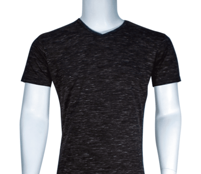 Lycra Vneck Black front 400x347 - Cotton Lycra V-Neck T-Shirts