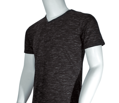 Lycra Vneck Black side 400x347 - Cotton Lycra V-Neck T-Shirts