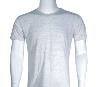 Lycra Vneck White Front 400x347 - Cotton Lycra V-Neck T-Shirts