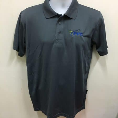 PPC Building Services Pte Ltd - Dark Grey Basic Dri-Fit Polo Ts (Front View)