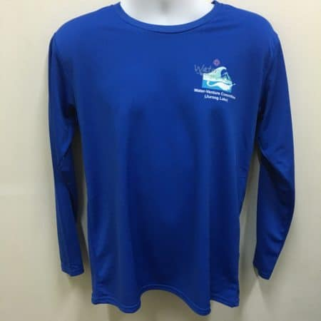 Water-Venture Committee - Royal Blue CRR3640 Long-sleeves dri-fit t-shirt (Front View)
