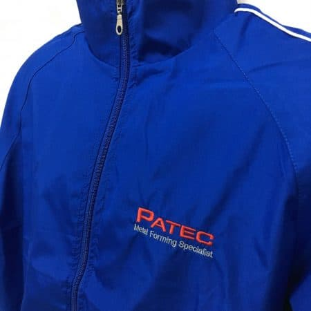 Patec Pte Ltd - WB06 Royal windbreaker (logo view)