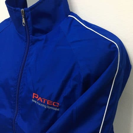 Patec Pte Ltd - WB06 Royal windbreaker (front angled view)