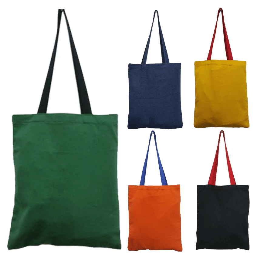 2-Tone Colored Canvas tote bag thumnail