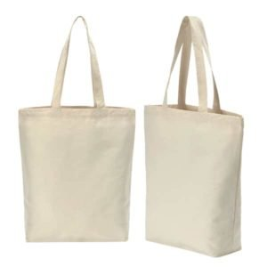 A3 Canvas tote bag beige catalogue