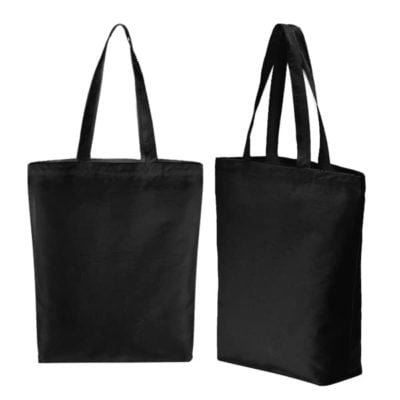 A3 Canvas tote bag black catalogue