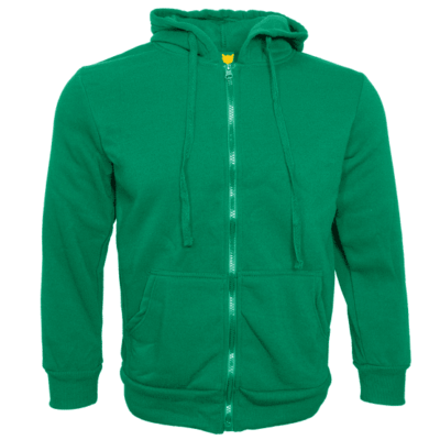Basic Zipped Hoodies 2018 GREEN thumbnail