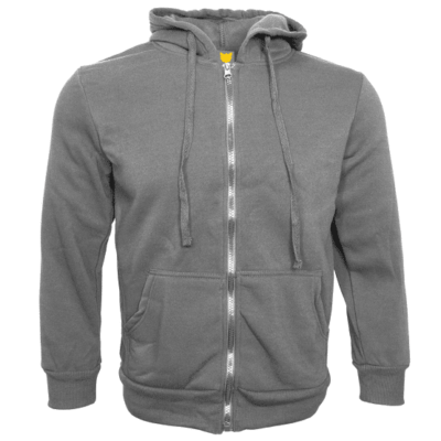 Basic Zipped Hoodies 2018 GREY thumbnail