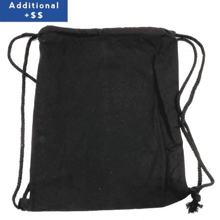 Black drawstring canvas bag 1