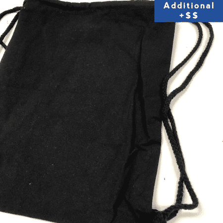 Black drawstring canvas bag 2