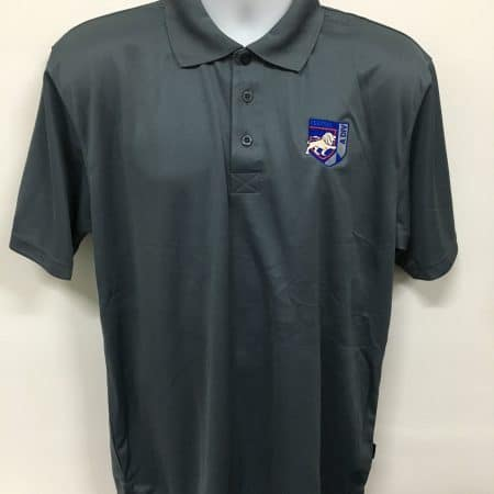 Central Police Division - Dark grey basic dri-fit polo t-shirt (front view)
