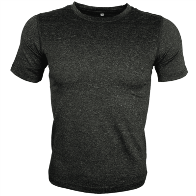 DARK GREY Melange mesh dri-fit t-shirt