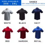 Dry Honeycomb Dri-Fit Polo T-Shirt catalogue 2018