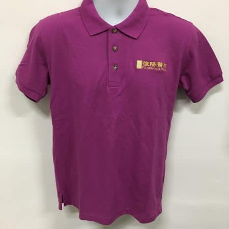 FYT - Purple basic honeycomb cotton polo t-shirt (Front view)