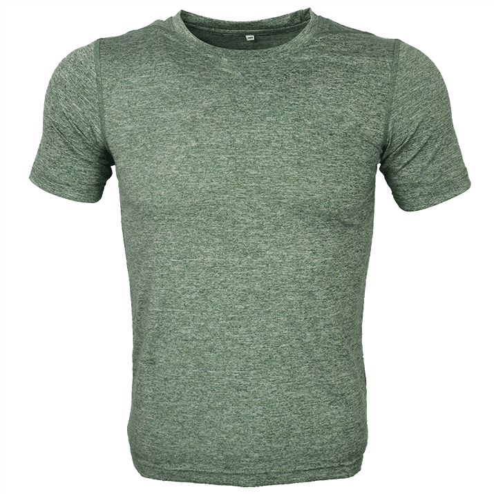 GREEN Melange mesh dri-fit t-shirt