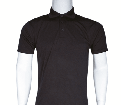 Interlock smooth dri-fit polo (black)