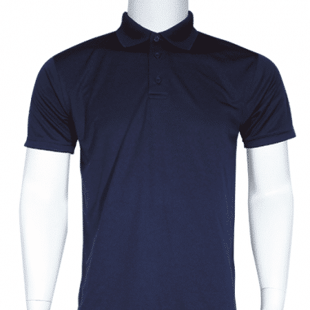 Interlock smooth dri-fit polo (navy)