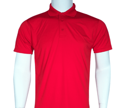 Interlock smooth dri-fit polo (red)