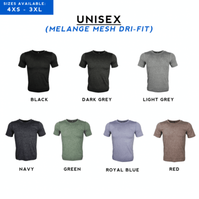 Melange mesh dri-fit t-shirt full 2018 catalogue