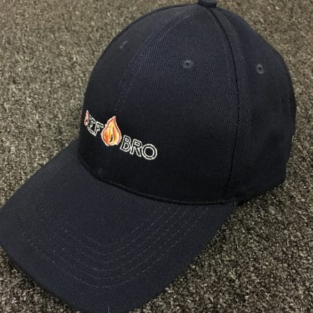 Beef Bros - CP01 Navy cap (Front angled view)