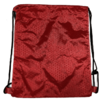 Red hexagon polyester drawstring bag thumbnail