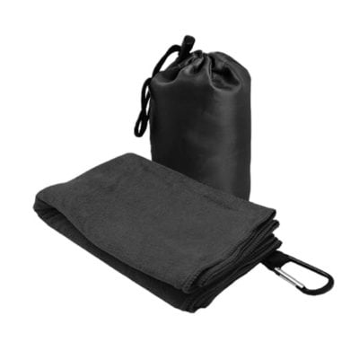 T2 Microfibre Sport Towel in Nylon Pouch BLACK