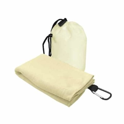 T2 Microfibre Sport Towel in Nylon Pouch CREAM