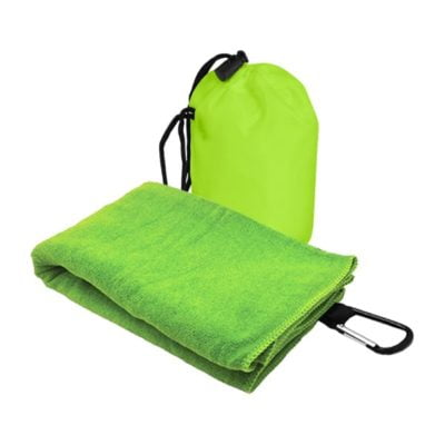 T2 Microfibre Sport Towel in Nylon Pouch GREEN