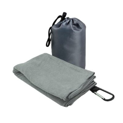 T2 Microfibre Sport Towel in Nylon Pouch GREY