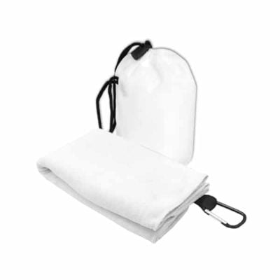 T2 Microfibre Sport Towel in Nylon Pouch WHITE