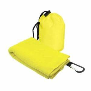 T2 Microfibre Sport Towel in Nylon Pouch YELLOW