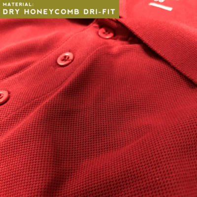 dry honeycomb Dri Fit Polo T-Shirt Upclose Fabric