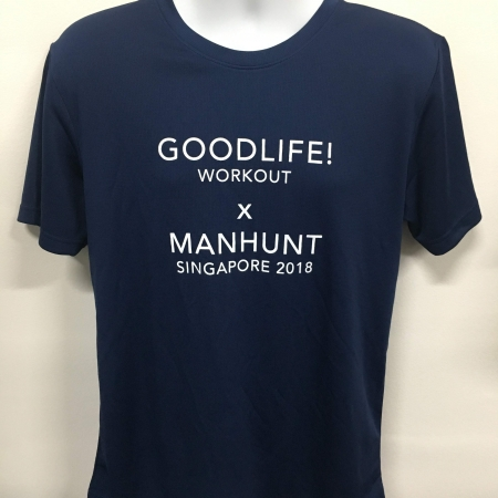 Montfort care - Navy Cool Dri-Fit T-Shirt (front view)