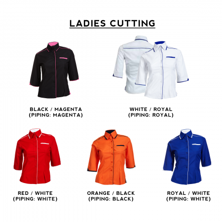 F116 Short Sleeves Uniform 2018-19 ladies catalogue