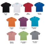 HC10 Multi-Tone Cotton Polo T-Shirts 2018-19 catalogue