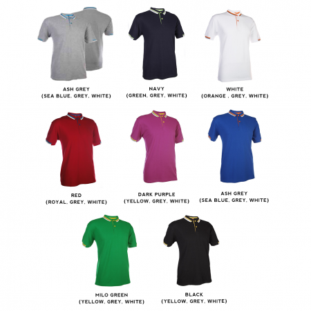 HC11 Multi-Tone Cotton Polo T-Shirts 2018-19 catalogue