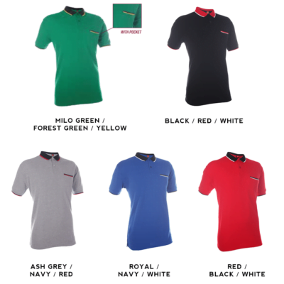 HC15 Multi-Tone Cotton Polo T-Shirts 2018-19 catalogue