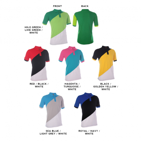 HC16 Multi-Tone Cotton Polo T-Shirts 2018-19 catalogue