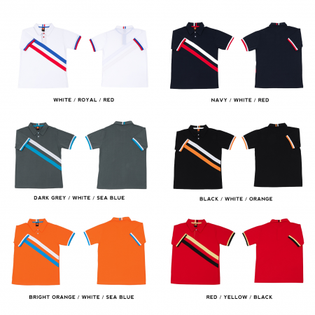 HC17 Multi-Tone Cotton Polo T-Shirts 2018-19 catalogue