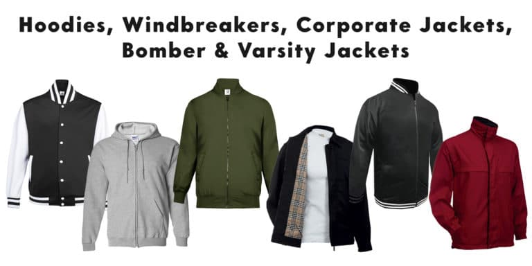 Hoodies Windbreakers Jackets Bomber Varsity catalogue