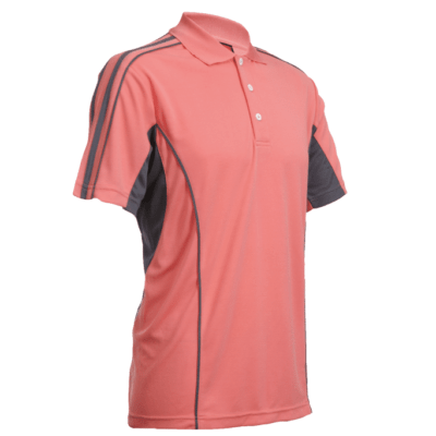QD33 Multi-Tone Dri-Fit Polo T-Shirts 2018-19 thumbnail peach