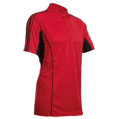 QD33 Multi-Tone Dri-Fit Polo T-Shirts 2018-19 thumbnail red
