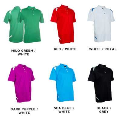 QD34 Multi-Tone Dri-Fit Polo T-Shirts 2018-19 catalogue