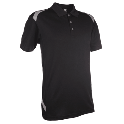 QD34 Multi-Tone Dri-Fit Polo T-Shirts 2018-19 thumbnail black