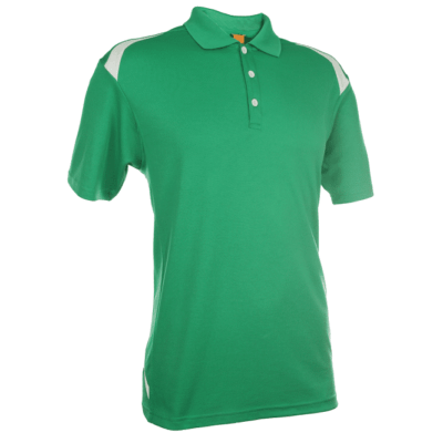 QD34 Multi-Tone Dri-Fit Polo T-Shirts 2018-19 thumbnail green front