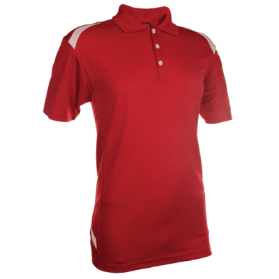 QD34 Multi-Tone Dri-Fit Polo T-Shirts 2018-19 thumbnail red