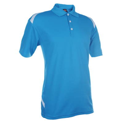 QD34 Multi-Tone Dri-Fit Polo T-Shirts 2018-19 thumbnail sea blue