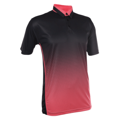 QD37 Multi-Tone Dri-Fit Polo T-Shirts 2018-19 thumbnail black peach